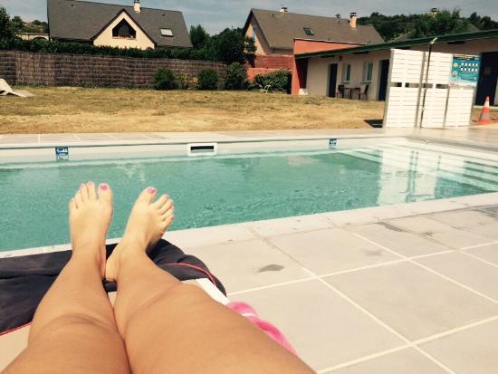 Brit Hotel Marvejols : La piscine chauffée au top. !!