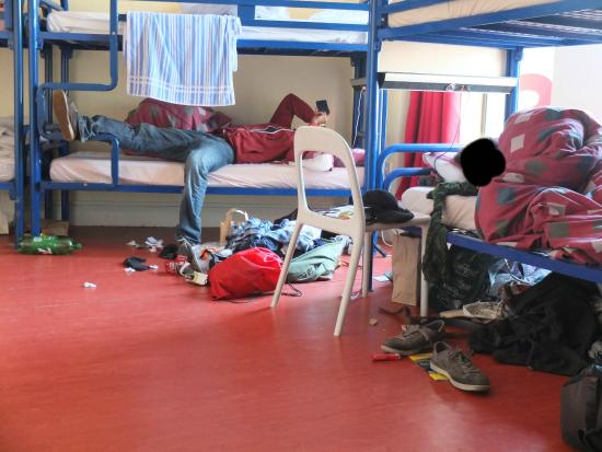 Abigails Hostel: Room of 8 people - spacious but messy bed neighbors
