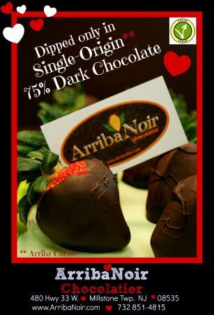 Millstone, NJ: Strawberries in Single-Origin 75% Dark