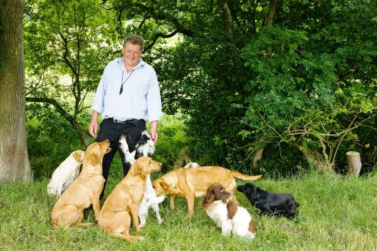 Carr House Farm Bed and Breakfast: Jack with his Cuckavalda Gundogs. You may like to take one for a walk