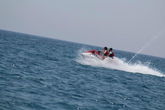 Province of Malaga, Spanien: Pro photo of our tandem jetskiing!