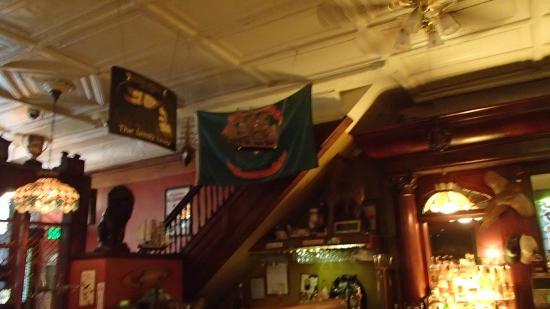 The Irish Lion Restaurant & Pub: One of several stairways to upstairs