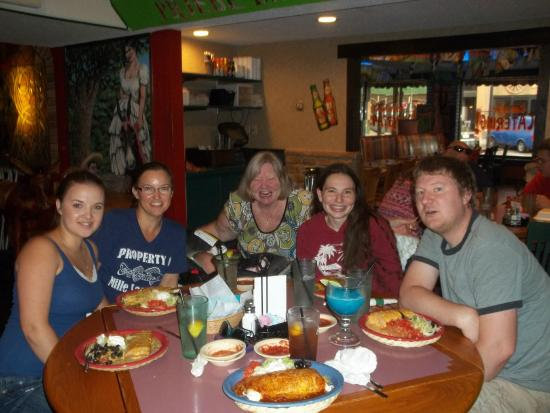 Mexican Village Restaurant: Family n friend having a wonderful meal together