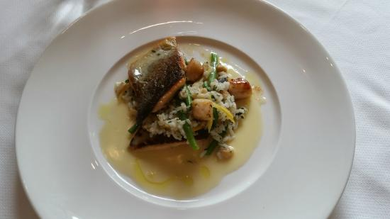 Club 33: Red Trout with lemon capers and scallops