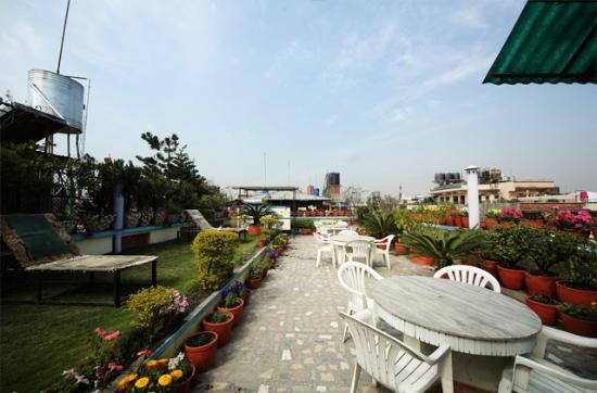 Hotel Norling Nepal: Roof top Garden