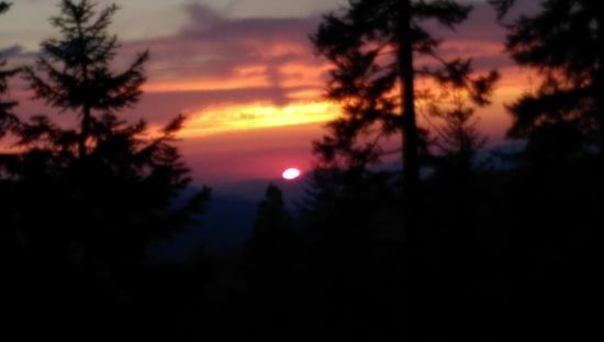 Sequoia High Sierra Camp: Sunset from the campfire....