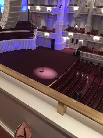 The Center for the Performing Arts: Our view from mezzanine N.