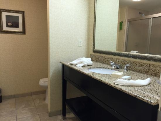 Hampton Inn Ellsworth / Bar Harbor: Bathroom