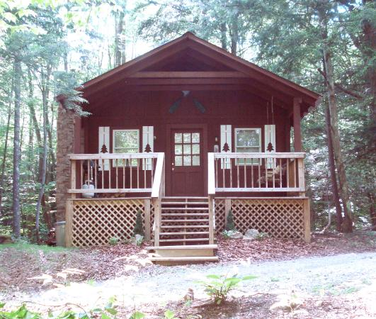 Bowden, WV: River Retreat Cabin in the summer
