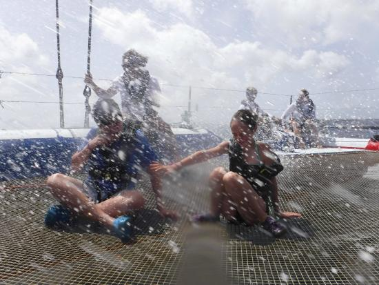 Simpson Bay, St. Maarten-St. Martin: This what about 18 knots of fun looks like!