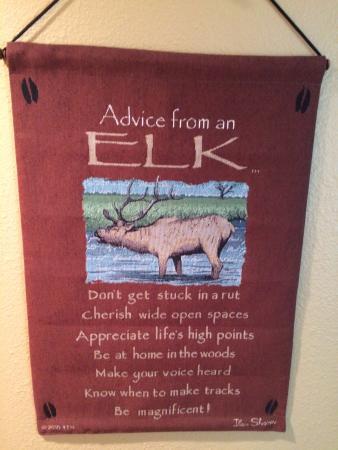 Elk Run Bed and Breakfast: Elk wisdom