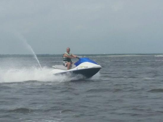 Wet and Wild Waverunner Rentals: me on the runner