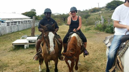 Cayon, St. Kitts: horeseback riding