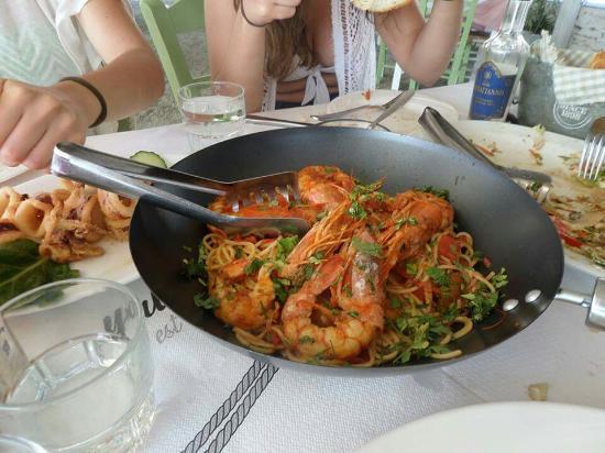 Byzantio Restaurant: Γαριδομακαρονάδα