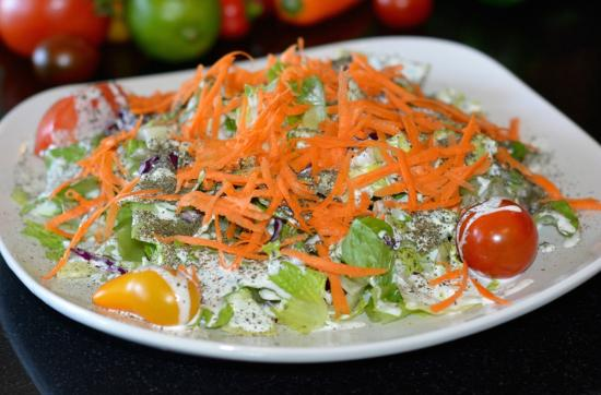 House salad picture of aryana afghan cuisine danville for Aryana afghan cuisine