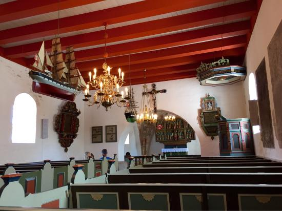 Laesoe Island, Dinamarca: Inside the church.