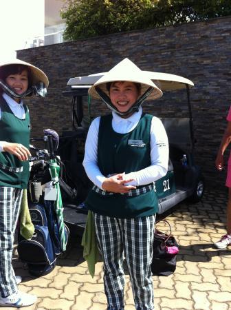 Charming caddies at Montgomerie Links