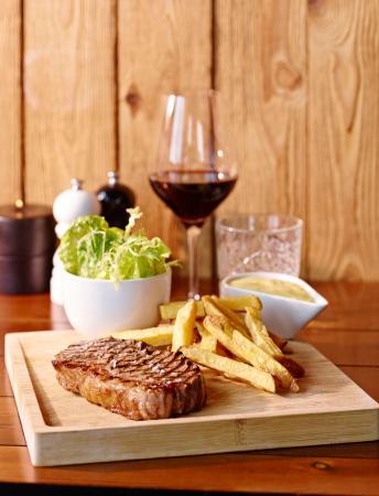 Vejle, Denmark: Steak bearnaise af krogmodnet okse