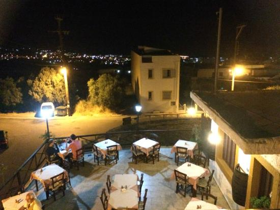 Lichnos Restaurant: View from the rooftop garden.