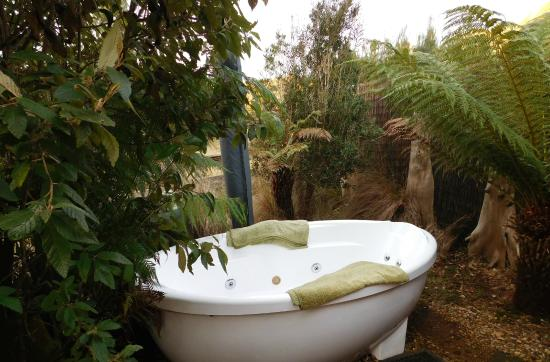 Tin Dragon Trail Cottages: outside spa