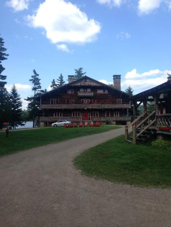 Great Camp Sagamore: Main Lodge front view