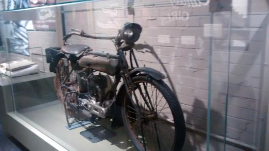 Great WAr Triumph motorcycle at Coventry Transport Museum