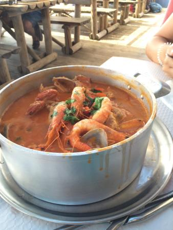 O Dinis: Almoço divinal, depois de uma excelente manhã de praia!!!!