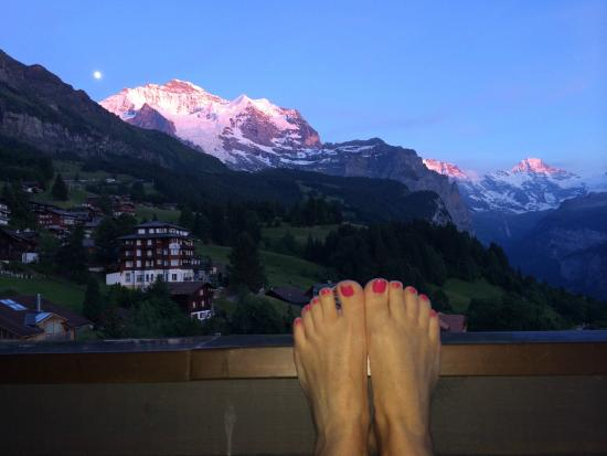 Hotel Caprice: Balcony view in the evening