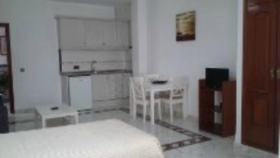 Apart-Hotel La Palmera: Room and television