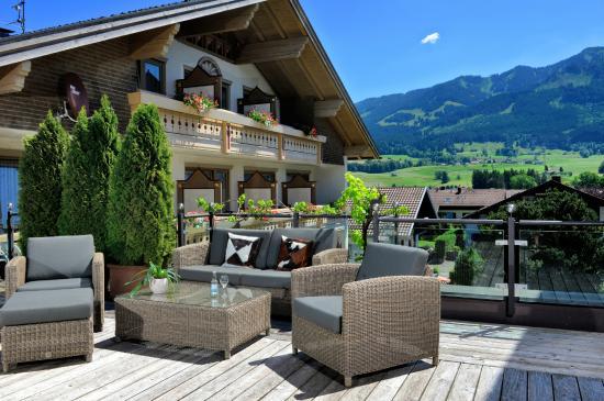 Hotel Rosenstock: auf der Panorama-Terrasse