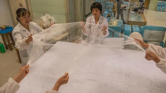 fabrication d 39 une couette en soie photo de suzhou no 1. Black Bedroom Furniture Sets. Home Design Ideas