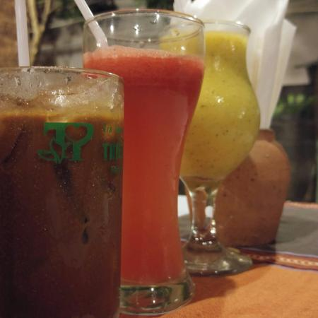 Sunset Restaurant: Coffee. Watermelon Juice. Mixed Juice. Hell Rice Viet Spring Roll Viet Fish Soup Spicy King Praw