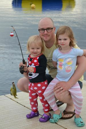 Lake Shore, MN: Fishing from the dock