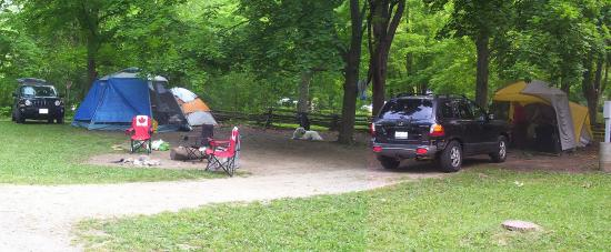 Rockwood Conservation Area: Our campsite - family