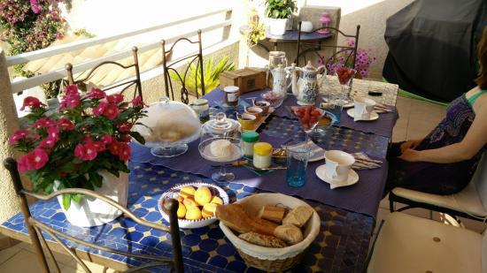 La Mimosane : la prima colazione
