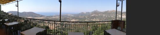 Lavatoggio, Frankrig: vue de la terrasse