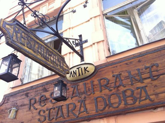 Stara Doba : вывеска ресторана