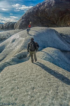 Viedma Glacier: Walking on crampons