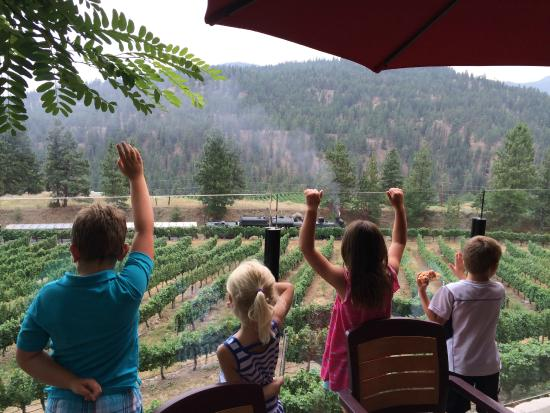 Summerland, Canadá: Kids happy to see the KV Train