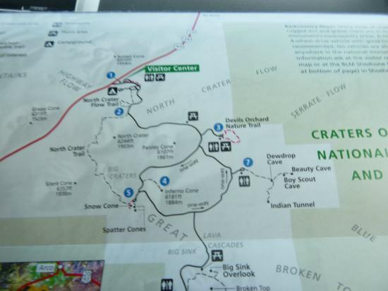 MAP OF DRIVE THROUGH - Picture of Craters of the Moon National ...