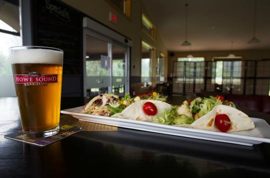 Black Squirrel Restaurant: Fish Tacos & Howe Sound Beer