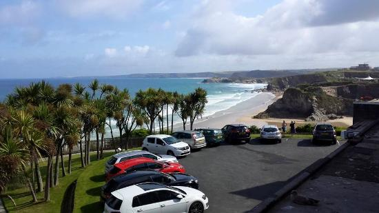 Trebarwith Hotel: The view from our room