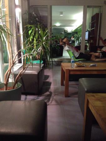 Vienna City Hostel : Salon commun de l'hôtel