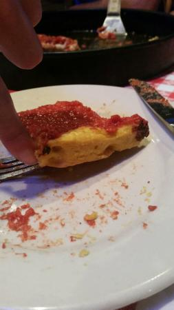 Gino's East of Lake Geneva: Typically, the pizza is twice as thick as this...