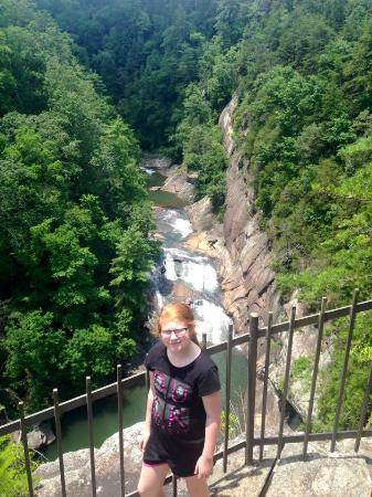 Tallulah Gorge State Park: on the way down the 1000 steps