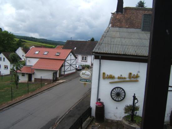 Philippsheim, Germany: View from our room, steps to the restaurant!
