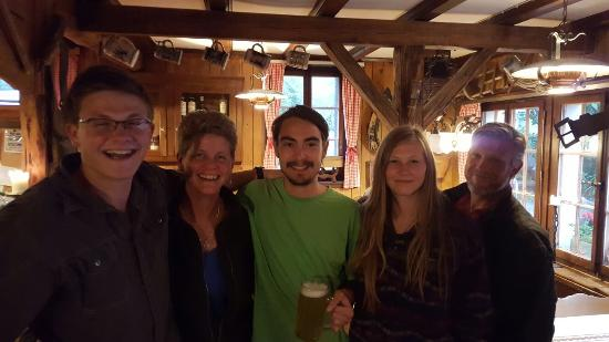 Pension Gimmelwald: The Coolest Waiter Ever.