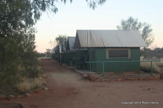Kings Creek Station: View of tent huts