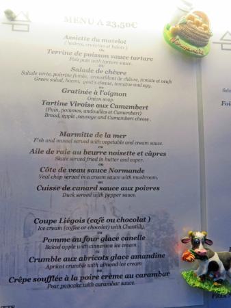 Le Petit Normand : 23.50 Euro Menu
