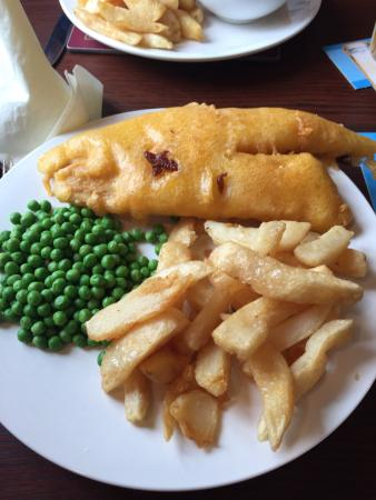 The Blue House: My huge portion of fish and chips